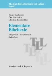 Elementare Bibeltexte - Vandenhoeck & Ruprecht