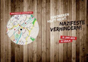 Nazifeste verhindern! - Aktionsnetzwerk Jena