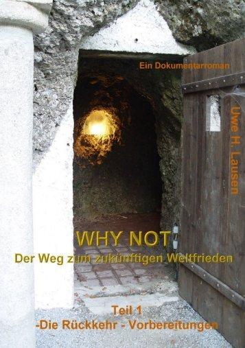 Leseprobe Why Not der zukünftge Weg zum Weltfrieden - Vorbereitungen