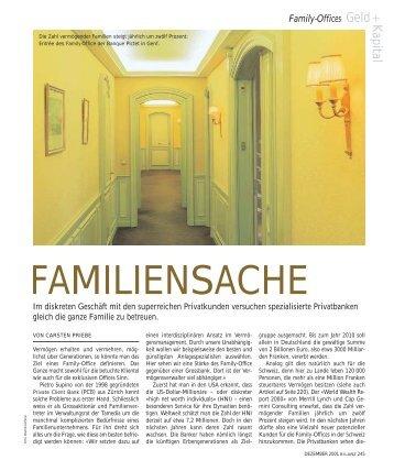 Dr. Carsten Priebe, Bilanz: Familiensache (Ehrenpreis 2002)