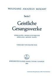 Page 1 WOLFGANG AMADEUS MOZART Serie I Geistliche ...