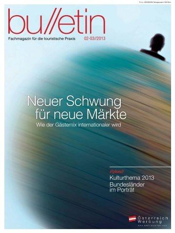 bulletin Februar/März 2013 - Österreich Werbung