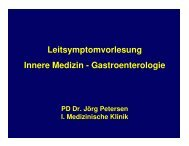 Leitsymptomvorlesung Innere Medizin - Gastroenterologie
