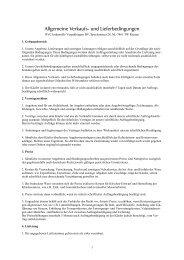 Allgemeine Verkaufs- und Lieferbedingungen - Rvc