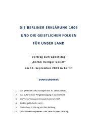 Berliner Erklärung _100 Jahre - Apostel-Petrus-Gemeinde