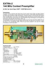EXTRA-2 144 MHz Contest Preamplifier - HA8ET