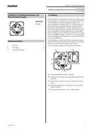 UP-Modul für Multifunktionstaster mit Raumtemperaturregler ...