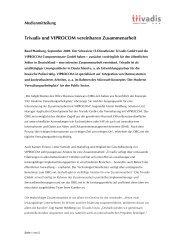 Trivadis und VIPROCOM vereinbaren Zusammenarbeit