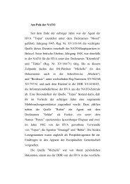 Description of Activities of an East German Spy Inside NATO