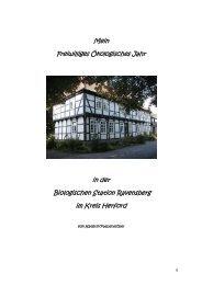 Abschlussbericht FÖJ - Biologische Station Ravensberg im Kreis ...