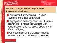 Berufsstruktur: zweiteilig – duales System, schulisches System ...