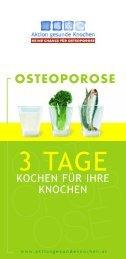 OSTEOPOROSE 3 Tage Kochen für Ihre Knochen - Aktion gesunde ...