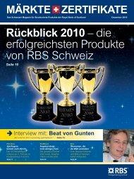 Rückblick 2010 – die erfolgreichsten Produkte ... - Markets from RBS