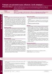 Pratiquer une spirométrie pour influencer l'arrêt tabagique ? - Minerva
