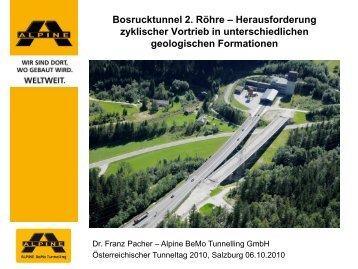 Bosrucktunnel 2. Röhre Herausforderung zyklischer ... - ita-aites.at