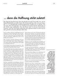 ... denn die Hoffnung stirbt zuletzt! - Forum – für Politik ...