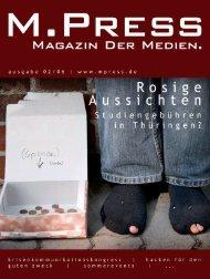 Liebe Leser, Inhaltsverzeichnis - M.Press