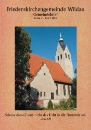 Februar/März - Friedenskirche Wildau