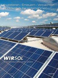 Investieren – Erneuern – Verpachten Photovoltaik für ... - WIRSOL