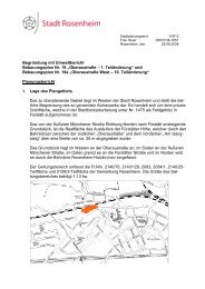 Begründung mit Umweltbericht Bebauungsplan ... - Stadt Rosenheim