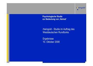 Die Rheingold-Umfrage als PDF-Download - WDR.de