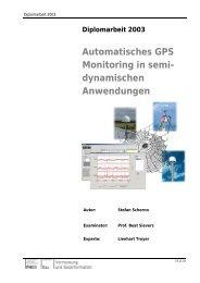 Automatisches GPS Monitoring in semi- dynamischen Anwendungen