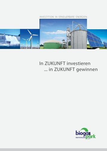 In ZUKUNFT investieren ... in ZUKUNFT gewinnen