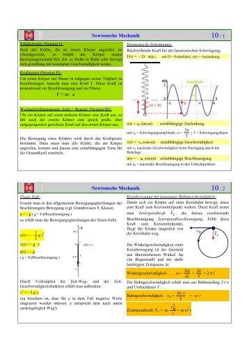 Grundwissen Physik 10. Klasse - Hans-Carossa-Gymnasium Landshut