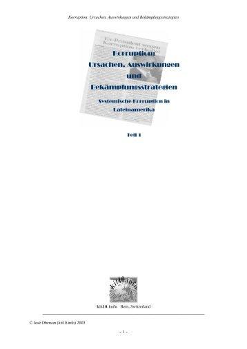 Korruption: Ursachen, Auswirkungen und Bekämpfungsstrategien