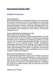 Sternenbericht Oktober 2008 - Monica Kissling alias Madame Etoile