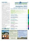 Gastgeber 2013 - Tourist-Information Nord-Ostsee-Kanal - Seite 3