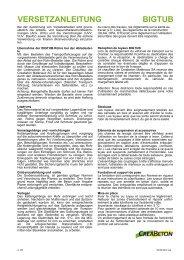 VERSETZANLEITUNG BIGTUB - Creabeton Materiaux AG