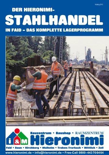 Aktuelles Stahlhandel Lagerprogramm zum Download - Hieronimi