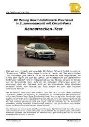 Test Rennstrecke - Circuit-parts.ch