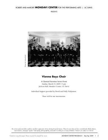 Vienna Boys Choir - Mondavi Center