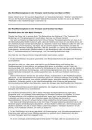 Die Modifikationsphase in der Therapie nach ... - Andreas Starke