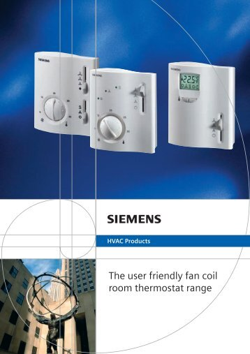 The user friendly fan coil room thermostat range - Ifs Store