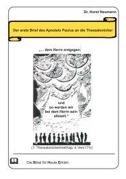 Dr. Horst Neumann Der erste Brief des Apostels Paulus an die ...