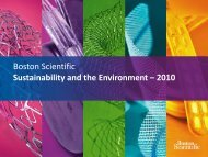 Boston Scientific Sustainability and  the Environment – 2010