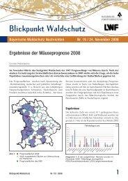 Ergebnisse der Mäuseprognose 2008 - Bayerische Landesanstalt ...