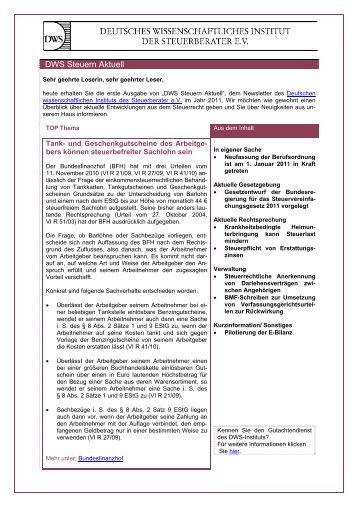 DWS Steuern Aktuell - Deutsches Wissenschaftliches Institut der ...