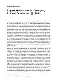 Rupert, Mönch aus St. Georgen, Abt von Ottobeuren - Michael ...