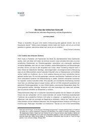 Die Idee der kritischen Vernunft - Hans Albert - TA1989-1