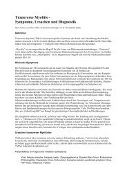 Transverse Myelitis - Symptome, Ursachen und Diagnostik