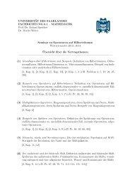 Übersicht über mögliche Vortragsthemen - Mathematik - Universität ...