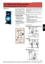 AC-Elektronik-Stromwandler mit Schaltausgang ... - drive-electric.hu