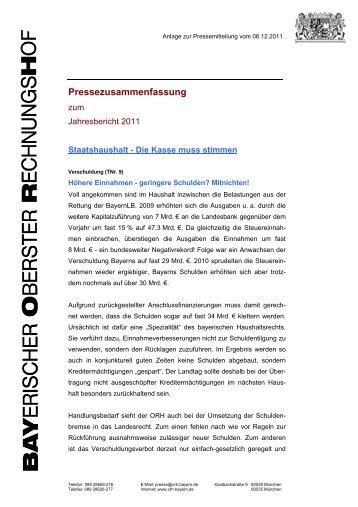 Kurzzusammenfassung - Bayern