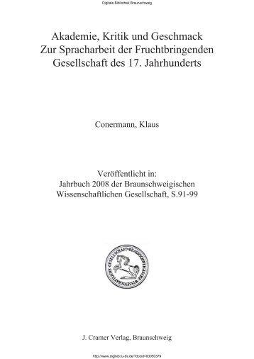 Akademie, Kritik und Geschmack Zur Spracharbeit der ...