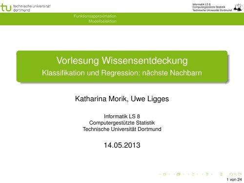 Vorlesung Wissensentdeckung - Klassifikation und Regression ...