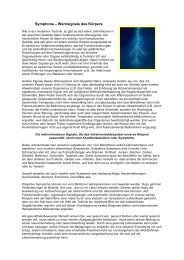 Symptome- Warnsignale des Körpers - a1-baubiologie